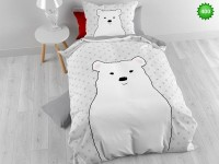 400 White Bear Bedding set