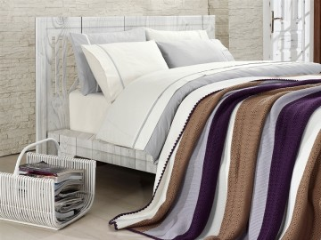 Clasic Bedding set with Knit Blanket-N213