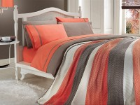 Clasic Bedding set with Knit Blanket-N202