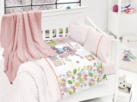 Baby bedding set with kniket blanket N-410