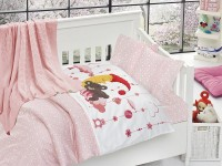 Baby bedding set with kniket blanket N-408