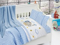 Baby bedding set with kniket blanket N-406