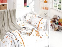 Baby bedding set with kniket blanket N-403