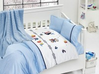 Baby bedding set with kniket blanket N-401