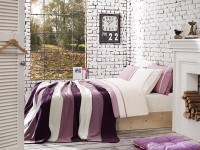 Clasic Bedding set with Knit Blanket-N219