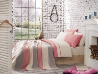 Clasic Bedding set with Knit Blanket-N220