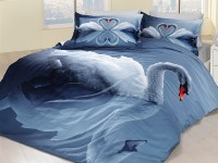 3D Bedding set - 05 Swan