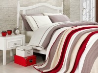 Clasic Bedding set with Knit Blanket-N212
