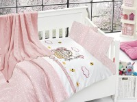 Baby bedding set with kniket blanket N-405