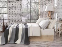 Clasic Bedding set with Knit Blanket-N221